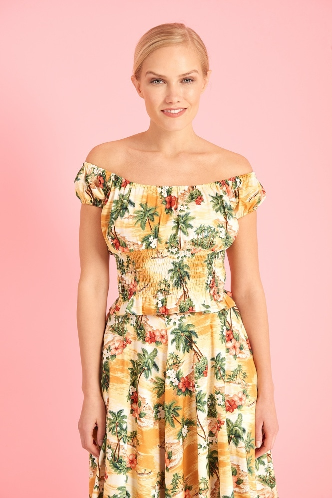 The Pretty Dress Company Aloha Vintage Gypsy Top