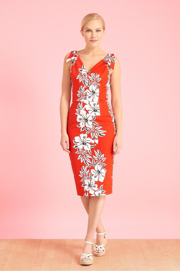 248dd87515a6 Ava Hawaiian Pencil Dress