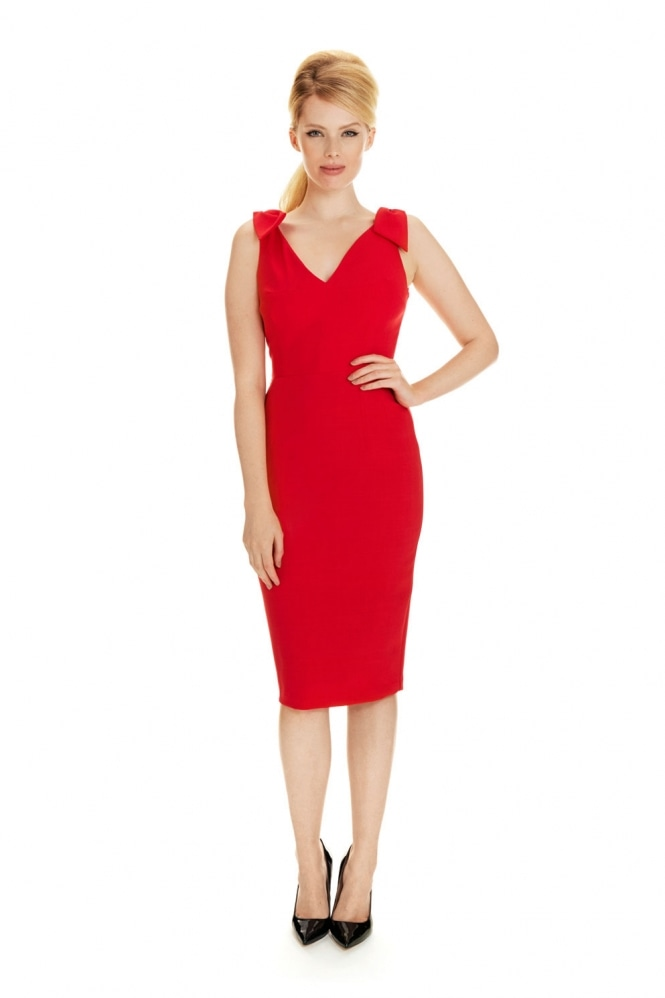 The Pretty Dress Company Ava Luxe Crepe Pencil Dress