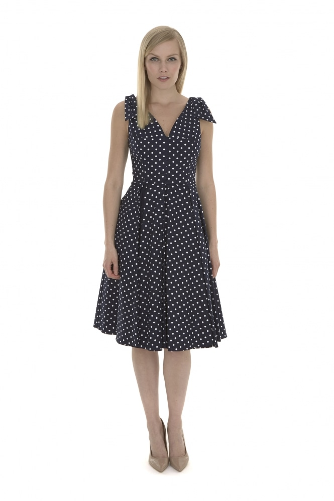 The Pretty Dress Company Ava Polka Dot Swing Dress