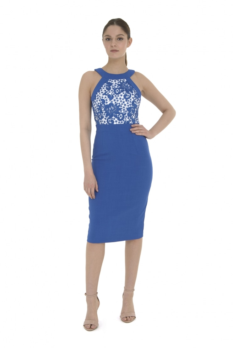 Ayda Guipure Lace Pencil Dress