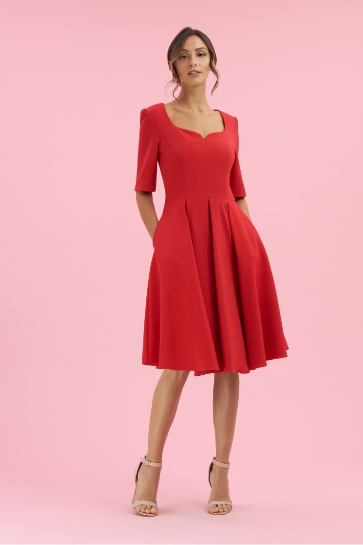 Charlotte Mid Sleeve Swing Dress