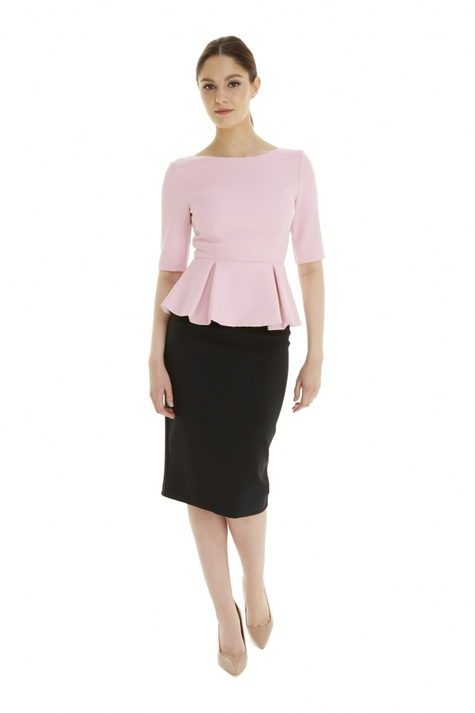 The Pretty Dress Company Classic Mid Sleeve Peplum Top
