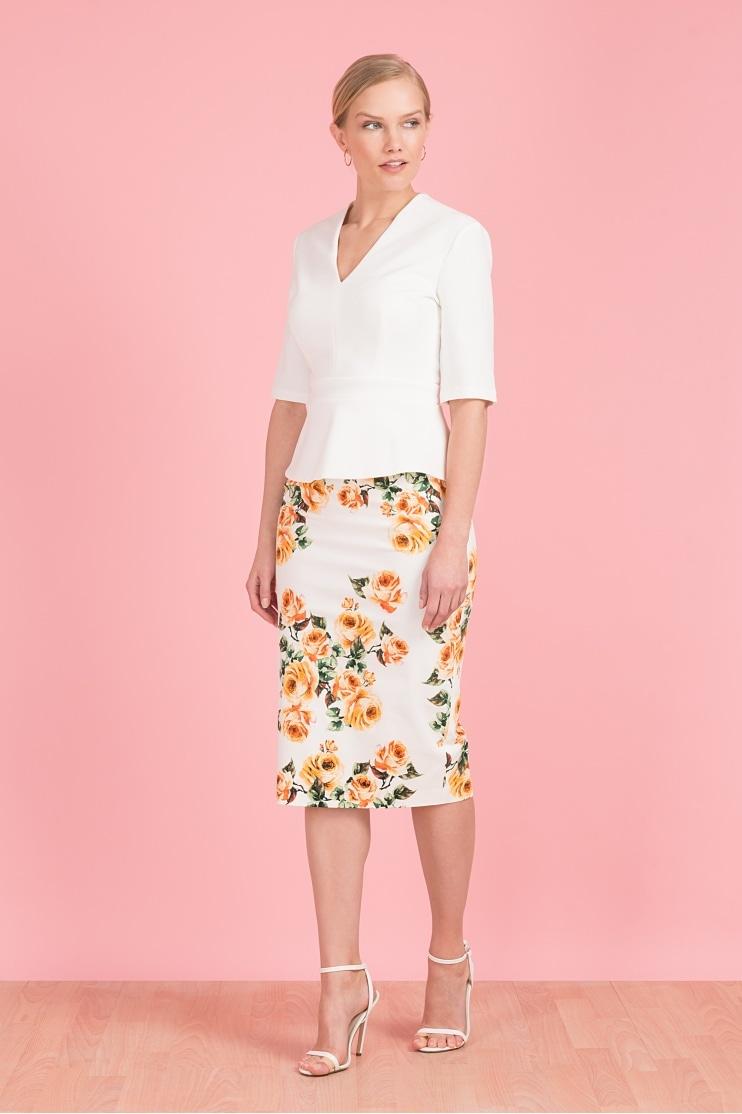 59e62e89ec Classic Vintage Rose Pencil Skirt