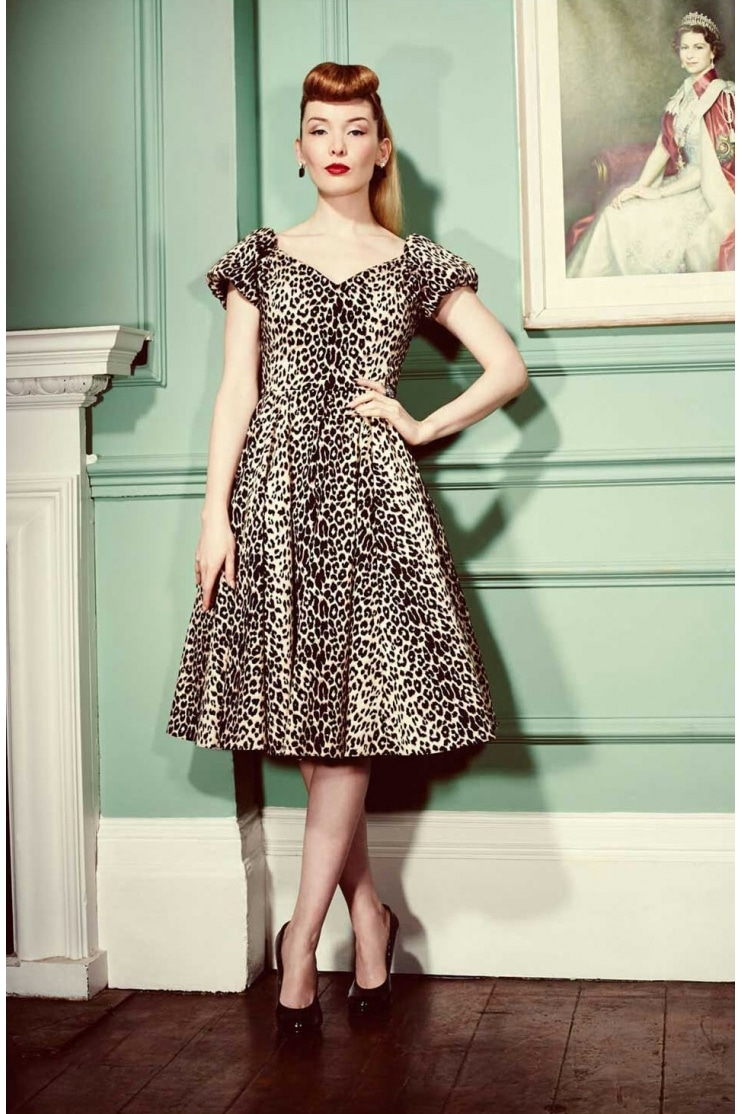 Dovima Leopard Couture Dress