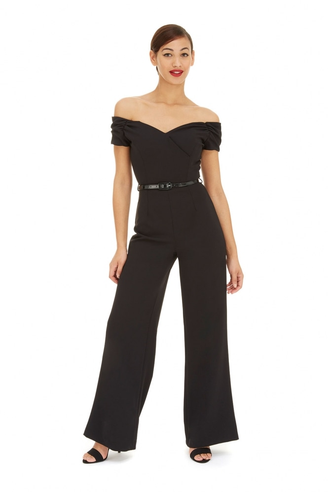 The Pretty Dress Company Fatale Black French Crepe Jumpsuit