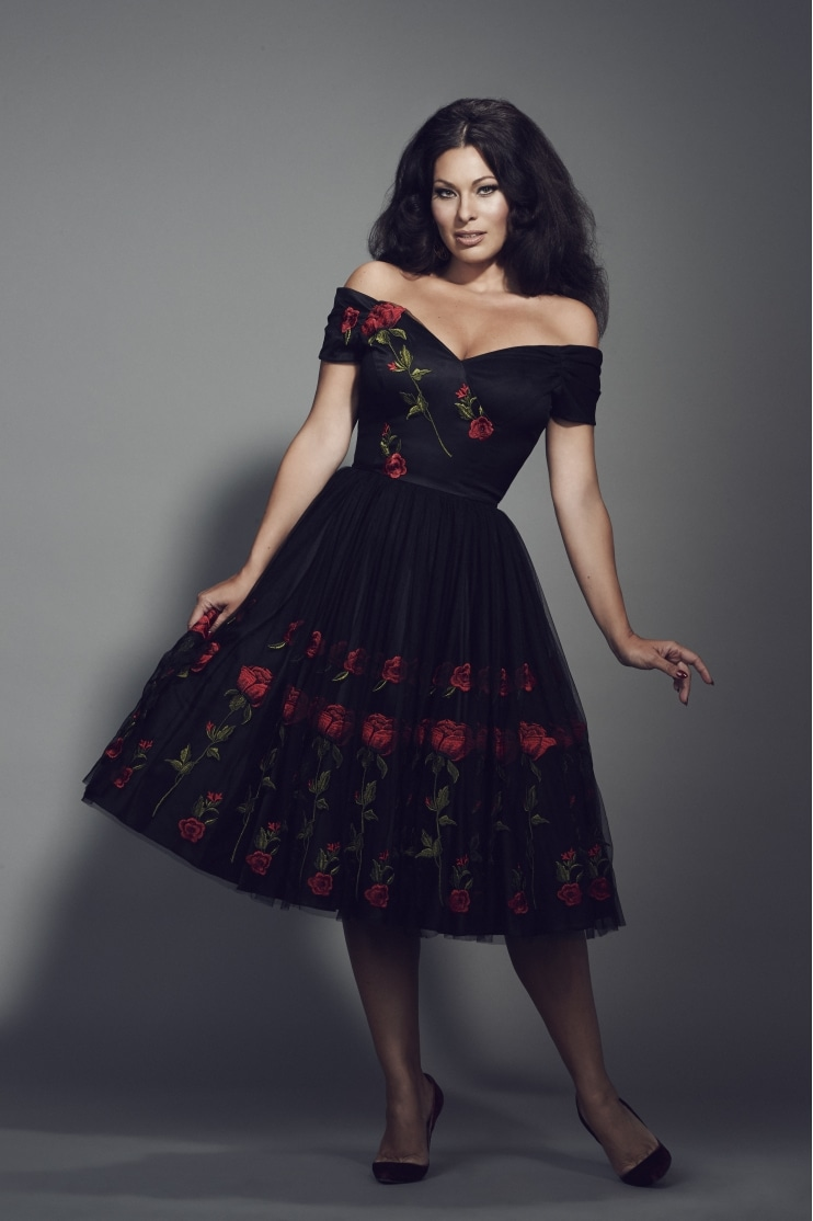 Fatale Embroidered Prom Dress