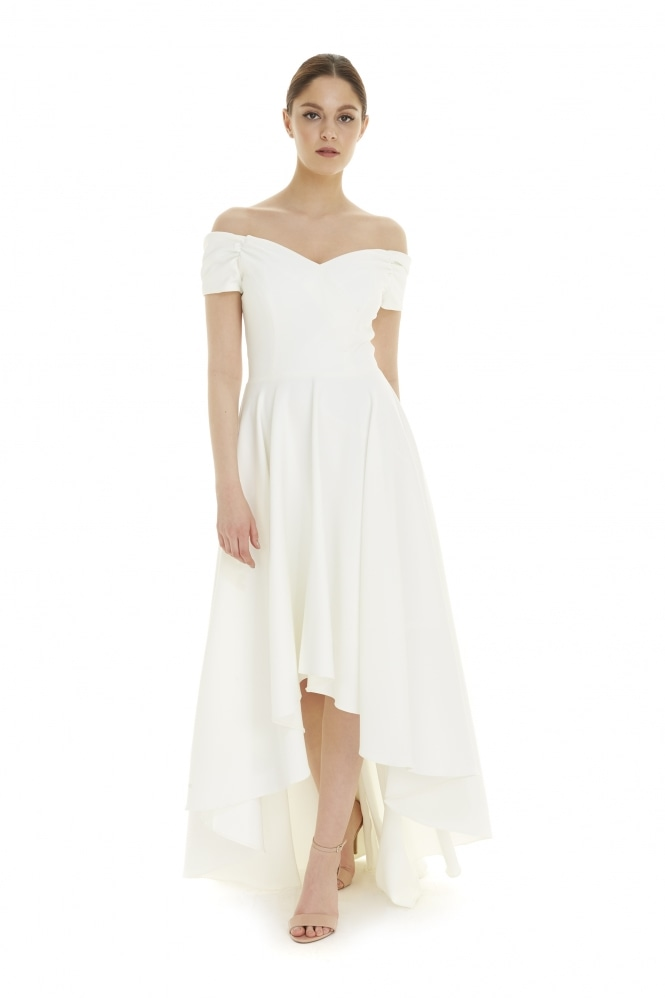 The Pretty Dress Company Fatale Ivory Hi-Lo Gown