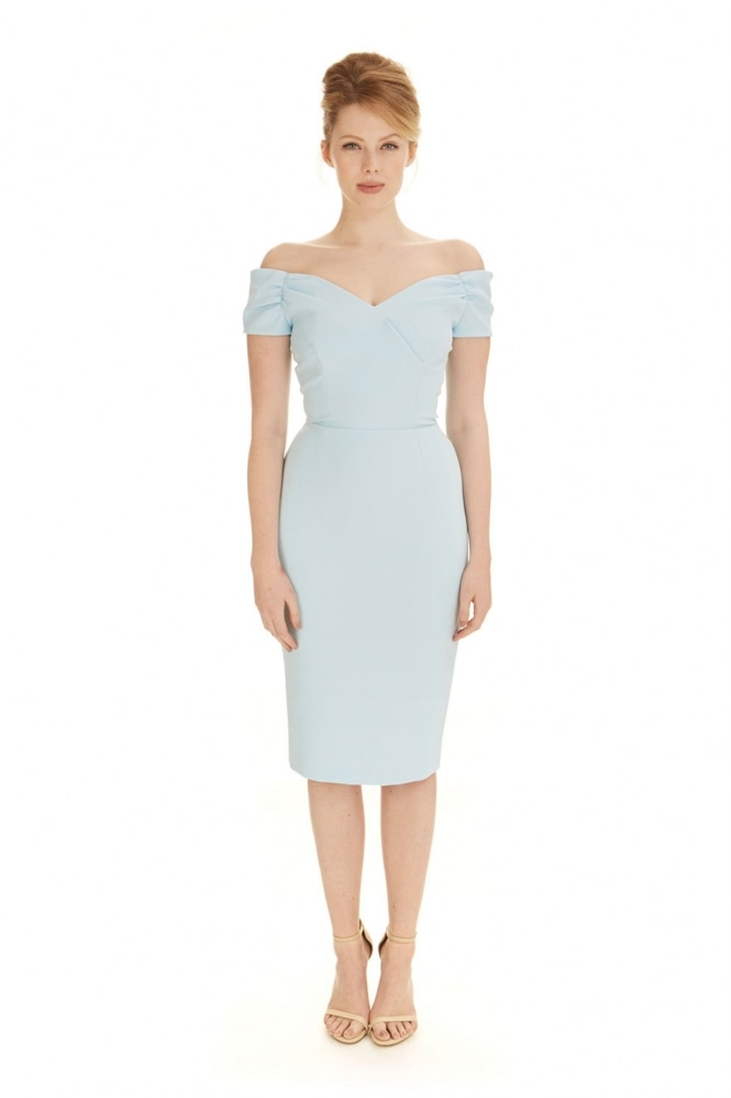 The Pretty Dress Company Fatale Luxe Crepe Pencil Dress