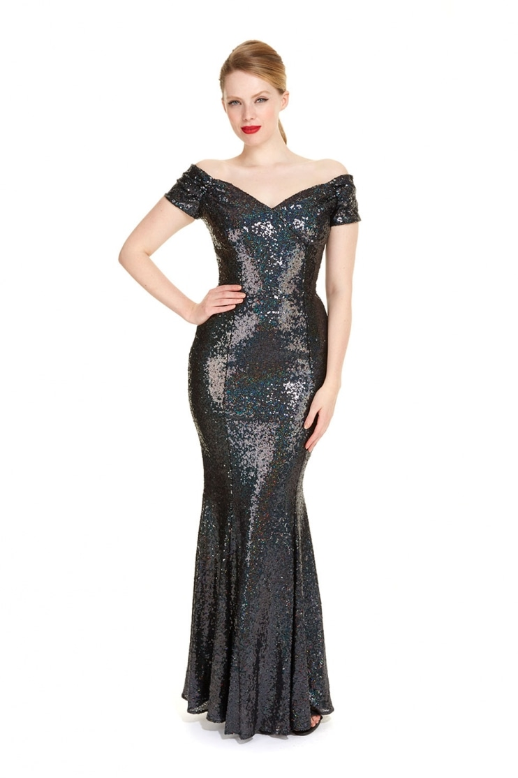 Fatale Sequin Gown