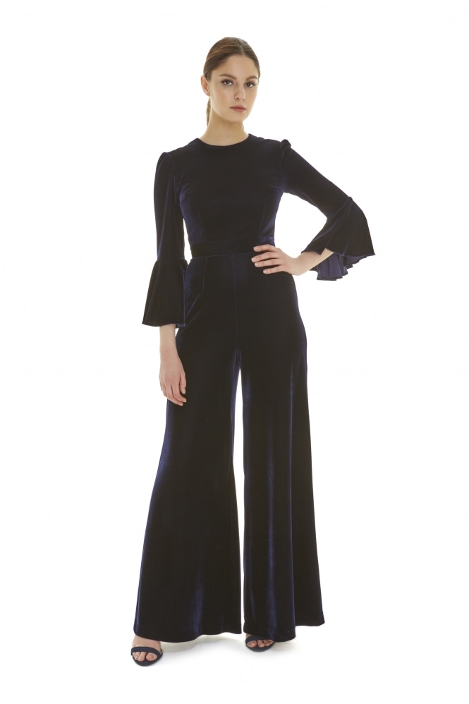 The Pretty Dress Company Gia Velvet Jumpsuit