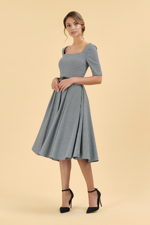 ecb071a75a Dresses  Gigi Dogtooth Midi Dress
