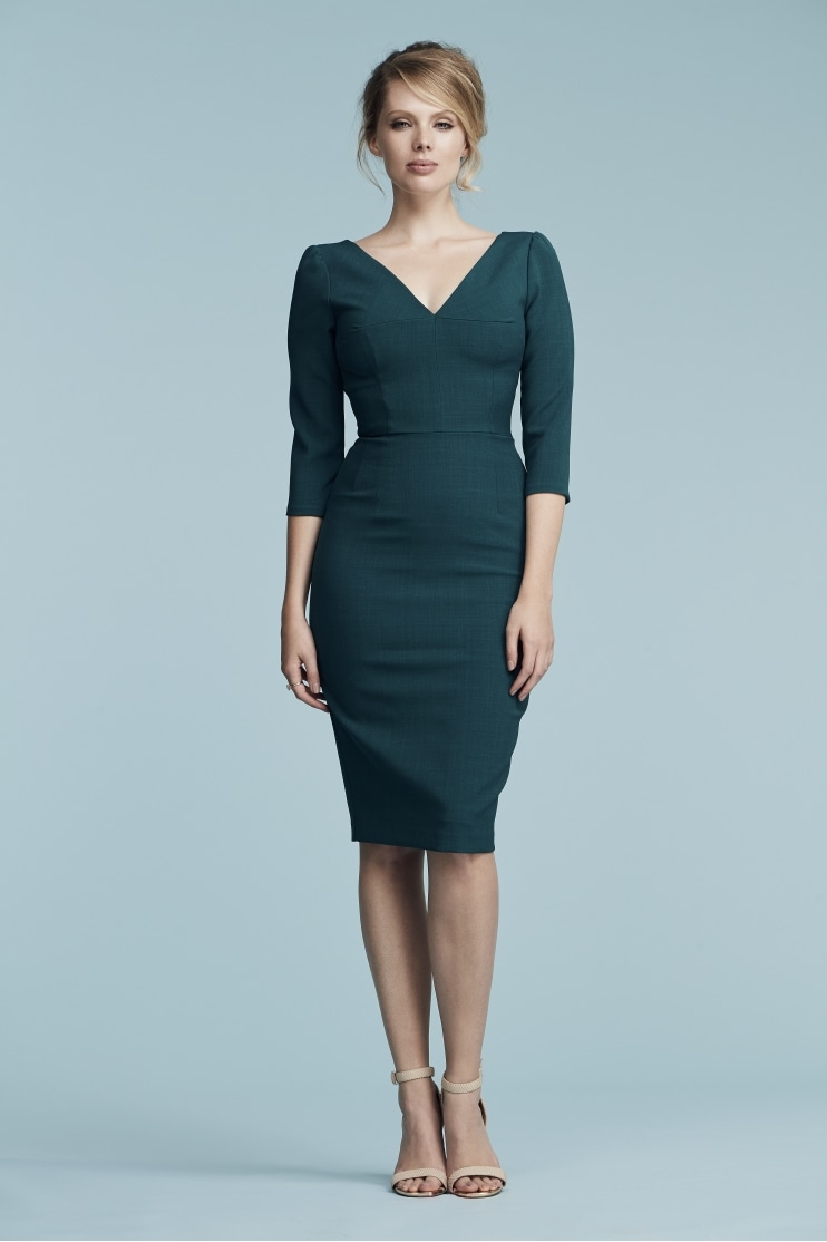 Harper Luxe Crepe Pencil Dress