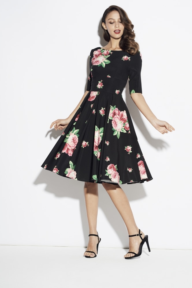 The Pretty Dress Company Hepburn in Lamour Floral Print