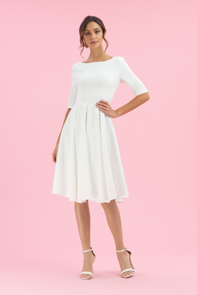 The Pretty Dress Company Hepburn in Luxe Crepe