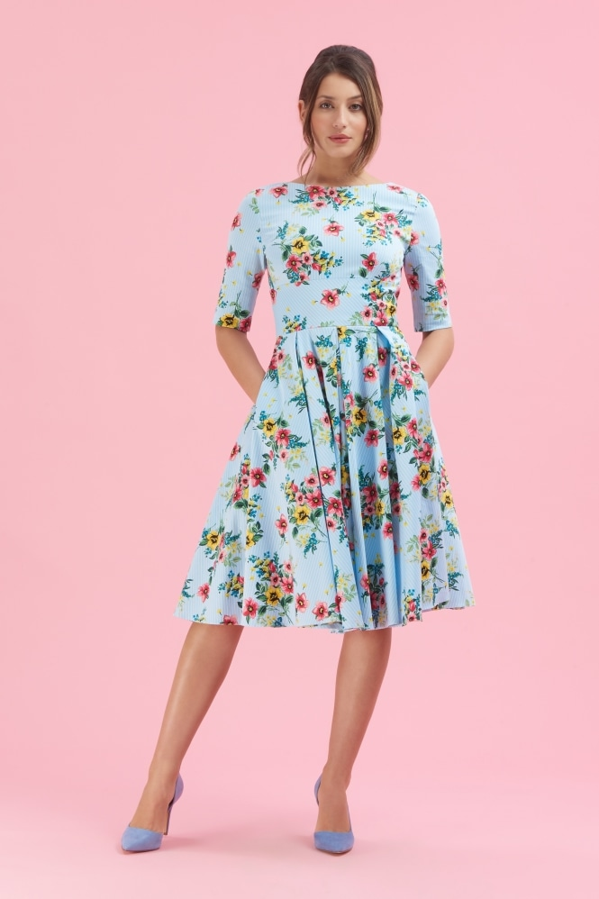 The Pretty Dress Company Hepburn In Springtime Floral