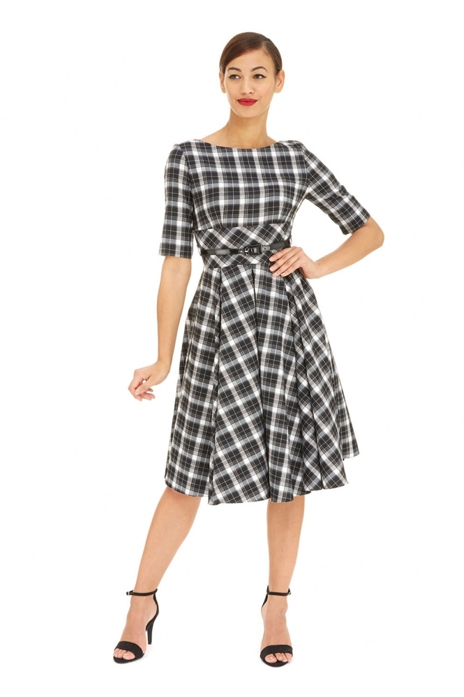 The Pretty Dress Company Hepburn in Tartan Twill
