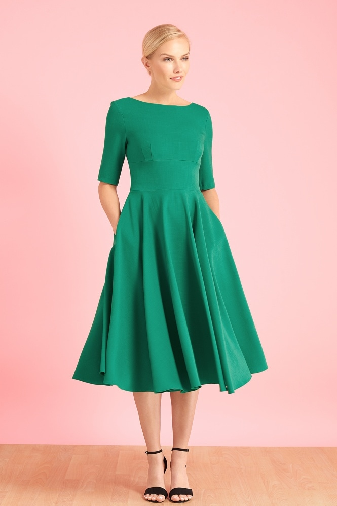 The Pretty Dress Company Hepburn Mid Sleeve Swing Dress