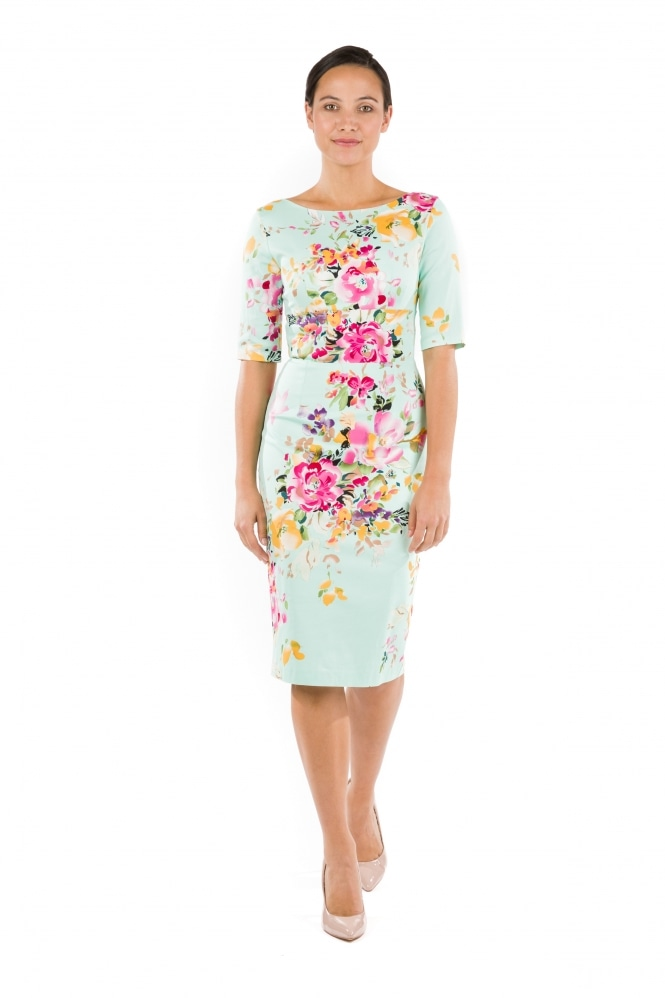 The Pretty Dress Company Hepburn Pencil Dress in Seville