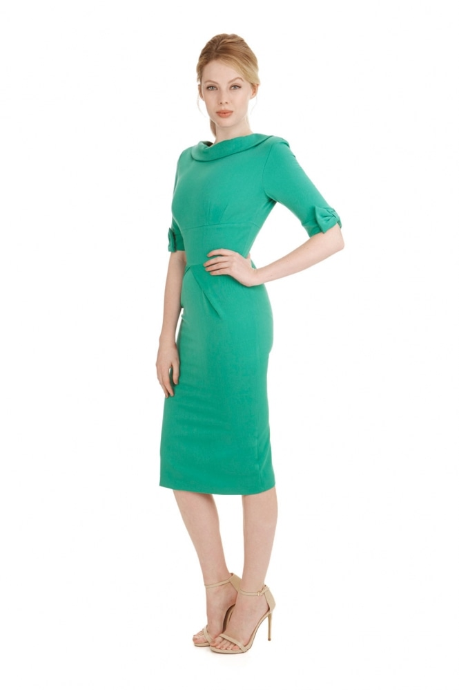 The Pretty Dress Company Hollywood 3/4 Sleeve Twill Pencil Dress