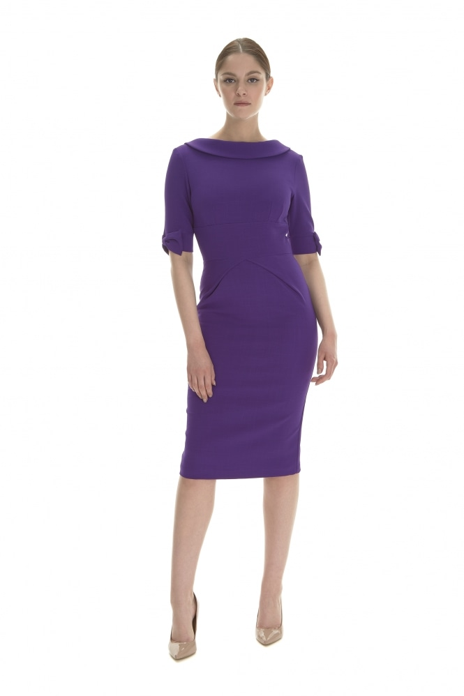 The Pretty Dress Company Hollywood Luxe Crepe Pencil Dress