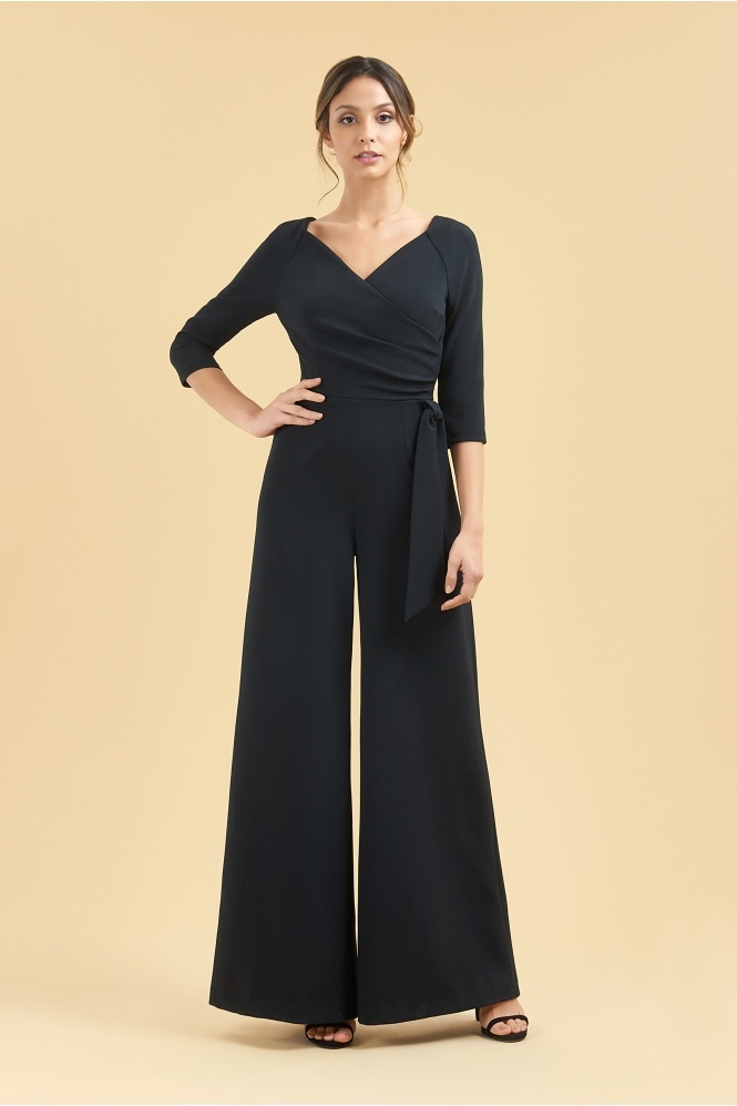 The Pretty Dress Company Hourglass Faux Wrap Jumpsuit
