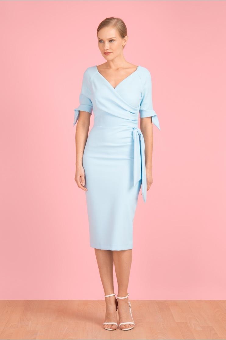692353b37e2 Hourglass Mid Sleeve Bow Pencil Dress. The Pretty Dress Company ...