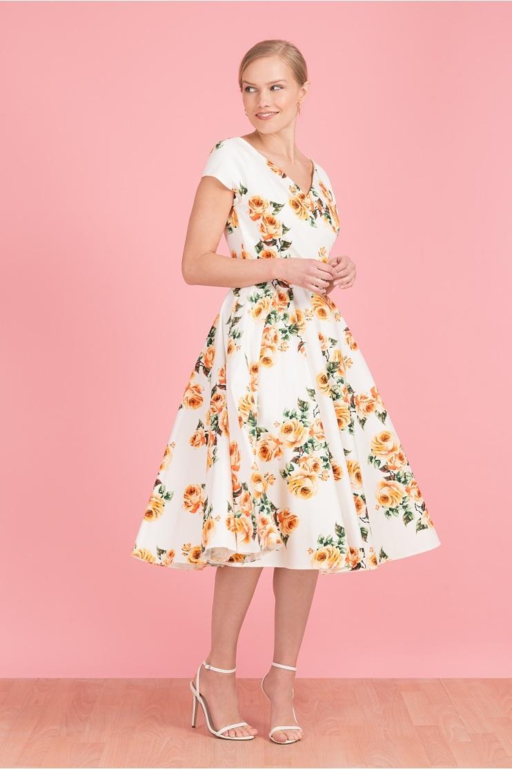 151760e6e5 Hourglass Vintage Rose Swing Dress · The Pretty Dress Company ...