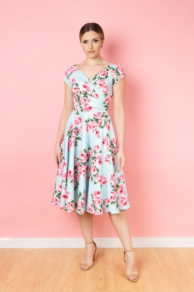 The Pretty Dress Company Hourglass Vintage Rose Swing Dress