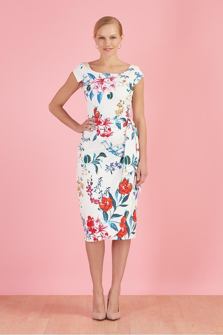 7f89798edc0d2f Jayne Hibiscus Sarong Dress