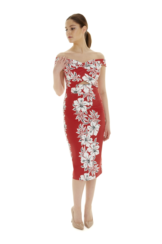 The Pretty Dress Company Kai Hawaiian Pencil Dress