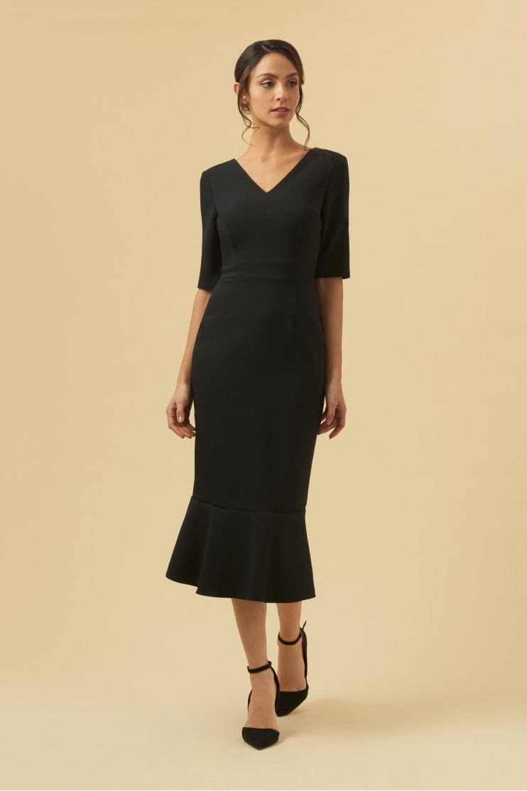 Katja Mid Sleeve Midi Dress