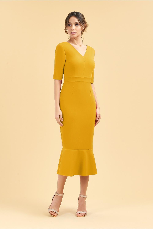 31a7e660703 The Pretty Dress Comapny Katja Mid Sleeve Midi Dress