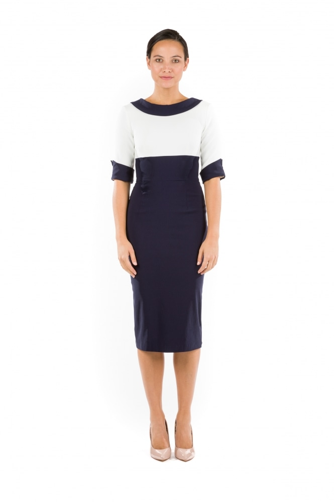The Pretty Dress Company Madison Contrast Pencil Dress