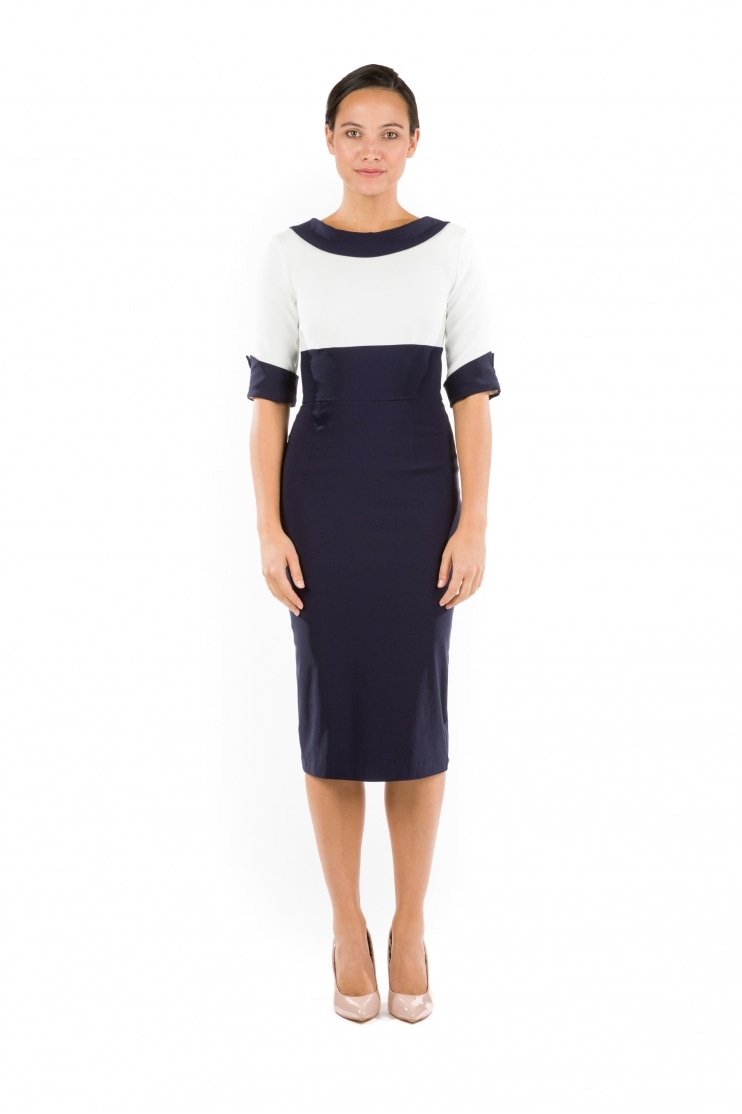 Madison Contrast Pencil Dress