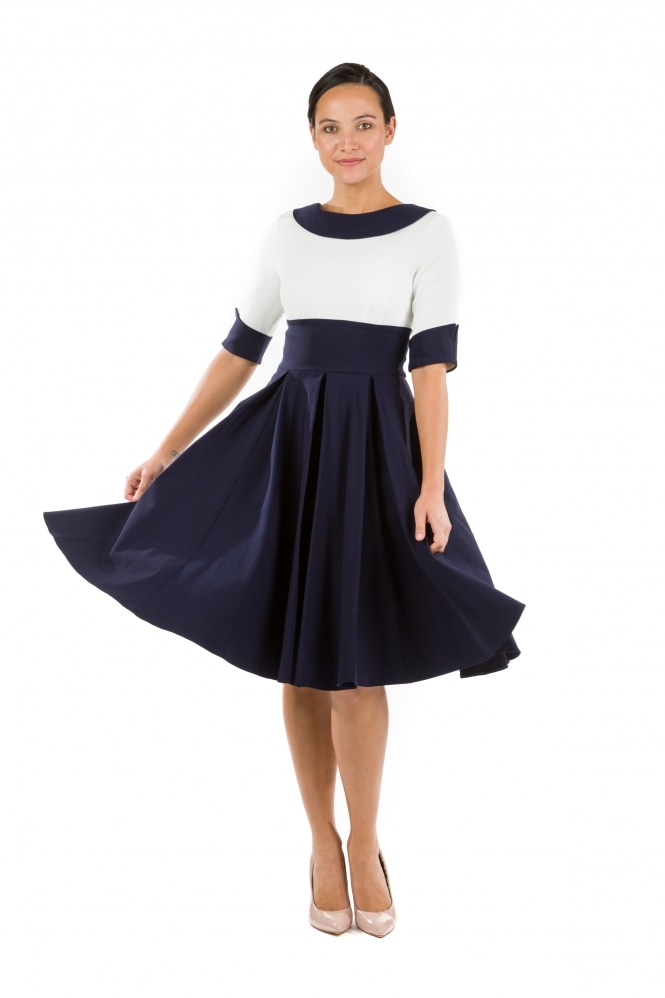 The Pretty Dress Company Madison Contrast Swing Dress