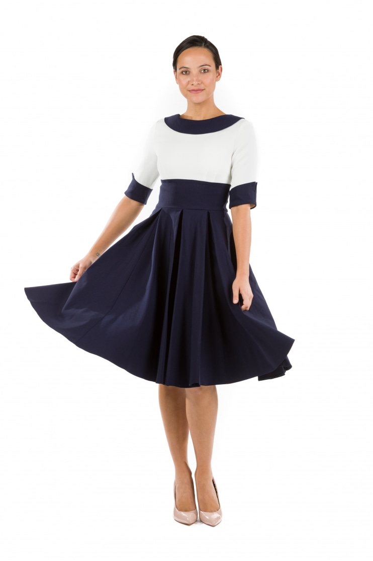 Madison Contrast Swing Dress