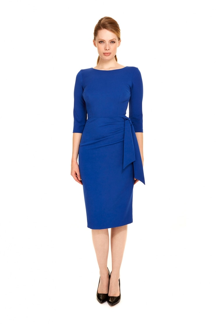 Marnie French Crepe Pencil Dress