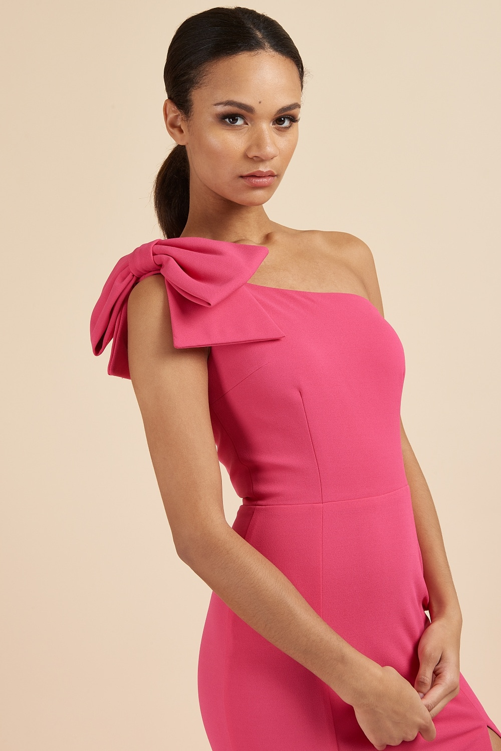 Dresses Millie Hot Pink Bow One Shoulder Gown Find over 100+ of the best free pink bow images. the pretty dress company millie hot pink bow one shoulder gown