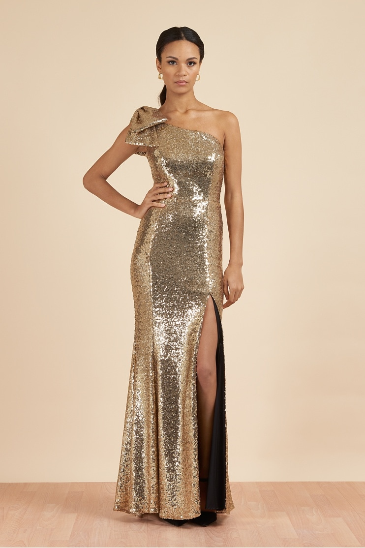 d0a3b670096f6 Millie Sequin Bow Gown · The Pretty Dress Company ...