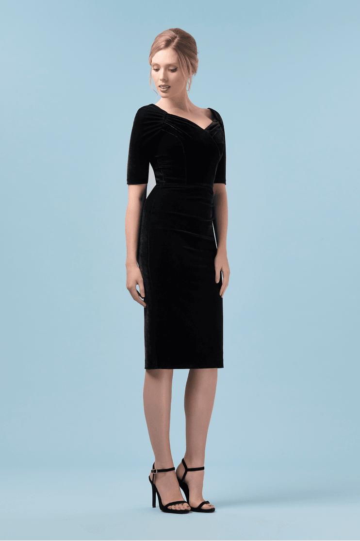 5726f2664ad1 Monte Carlo Velvet Pencil Dress · The Pretty Dress Company Monte Carlo Black  ...