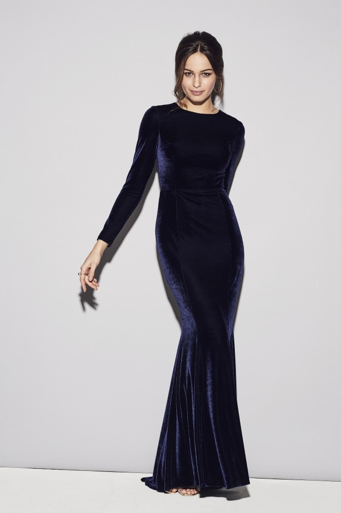 The Pretty Dress Company Moritz Midnight Velvet Gown