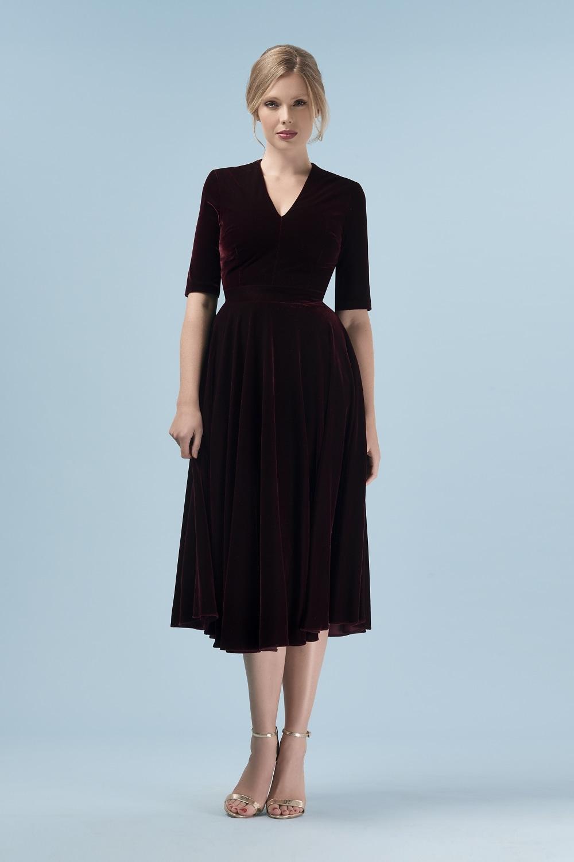 Myla Velvet Midi Dress