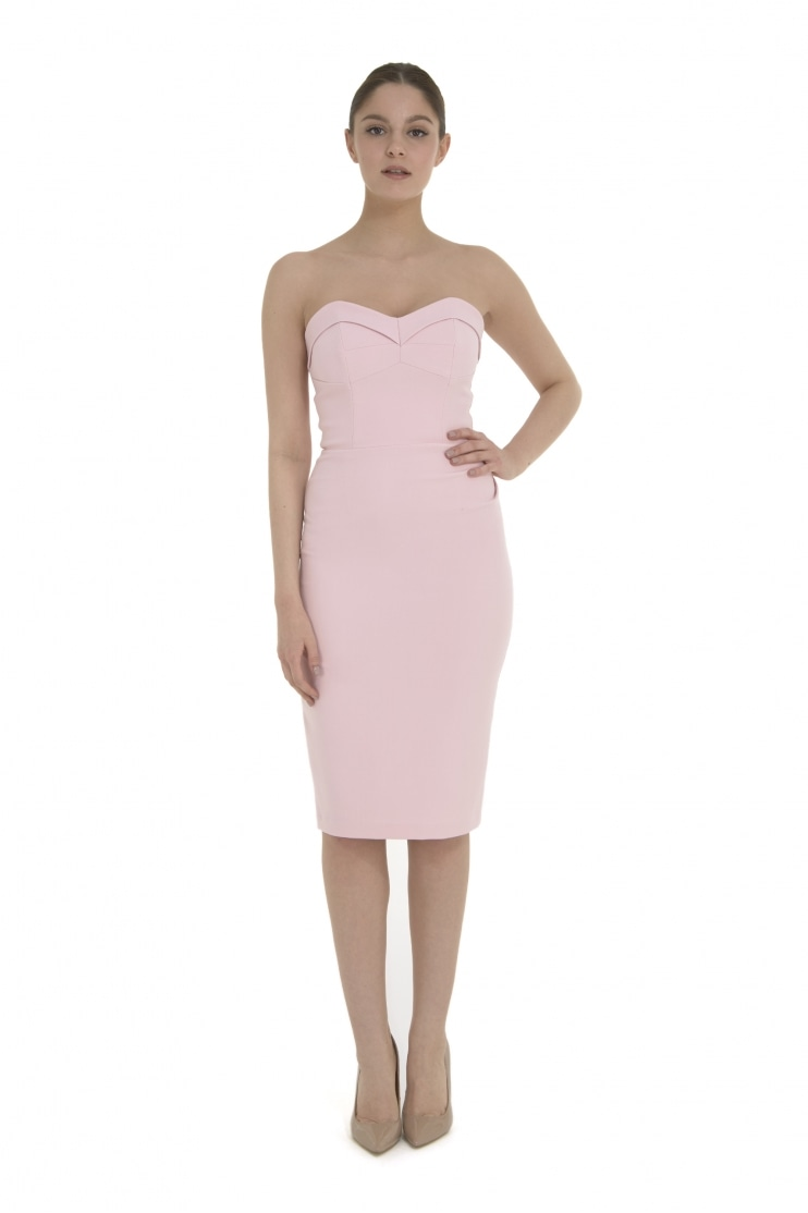 Palm Springs Pale Pink Wiggle Dress