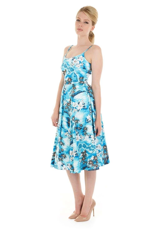 d362ed057023 new lifestyle 798d5 d3ce4 priscilla hawaiian midi swing dress ...