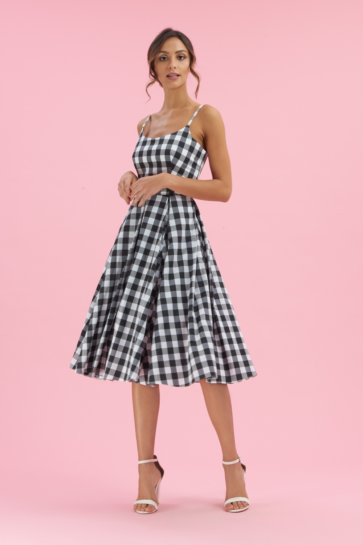 ec050bc817 The Pretty Dress Company Priscilla Gingham Midi Swing Dress