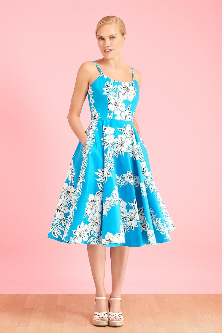 2284f542f48d Priscilla Hawaiian Midi Swing Dress