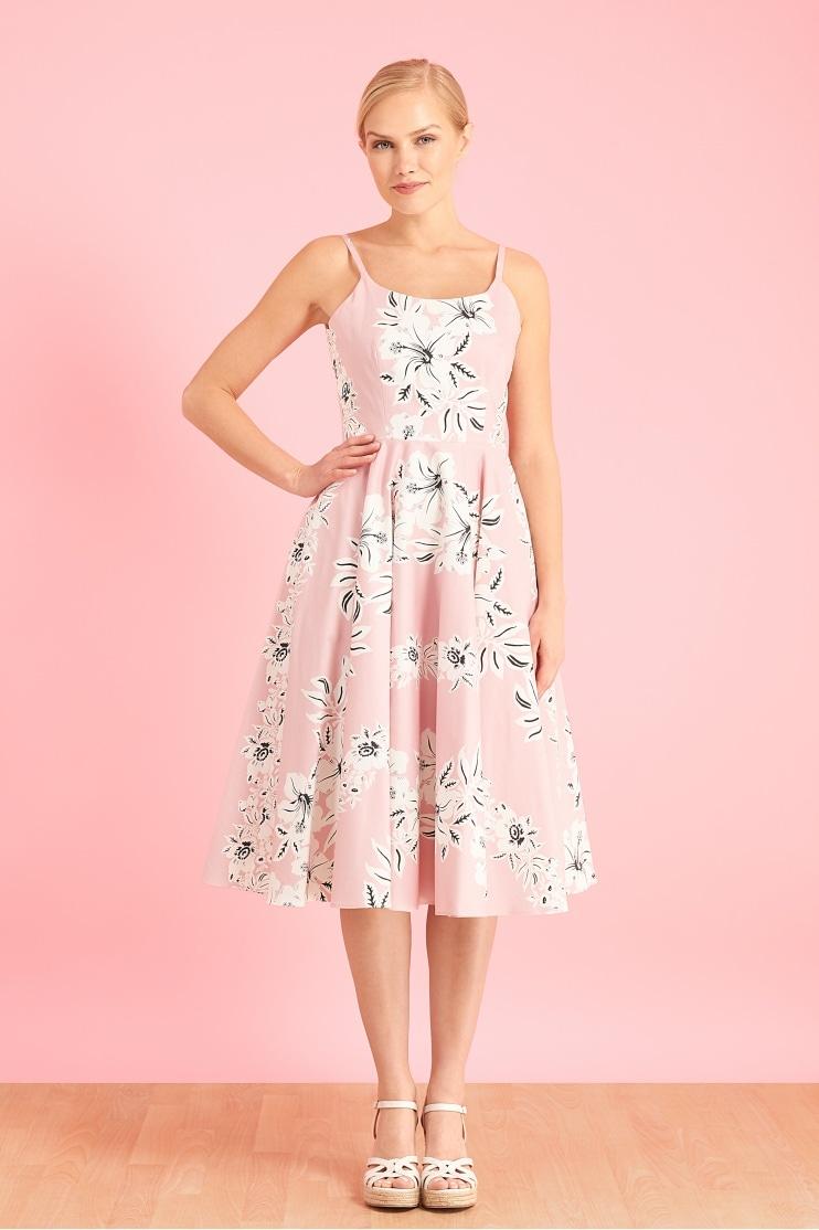d4a0e2b123585 Priscilla Hawaiian Midi Swing Dress