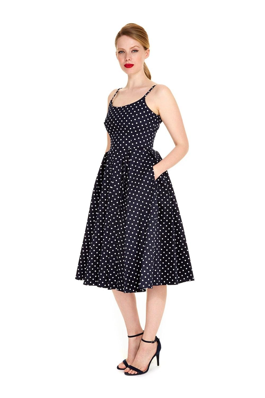 c65fc5ecc996f1 The Pretty Dress Company Priscilla Polka Dot Midi Dress