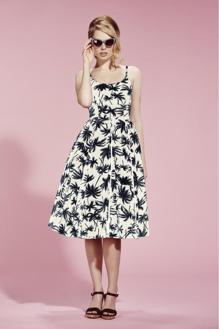 0c09228b173d Priscilla Retro Palm Midi Dress. The Pretty ...